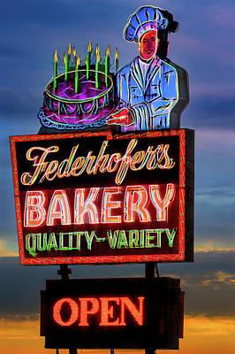 Photograph - Federhofer's Vintage Neon by Robert FERD Frank
