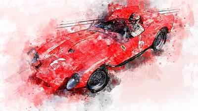 Painting - Ferrari 250 Testa Rossa - 27 by Andrea Mazzocchetti