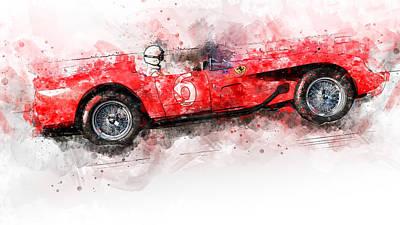 Painting - Ferrari 250 Testa Rossa - 29 by Andrea Mazzocchetti