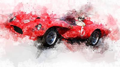 Painting - Ferrari 250 Testa Rossa - 30 by Andrea Mazzocchetti