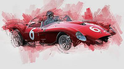 Painting - Ferrari 250 Testa Rossa - 31 by Andrea Mazzocchetti