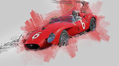 Painting - Ferrari 250 Testa Rossa - 33 by Andrea Mazzocchetti