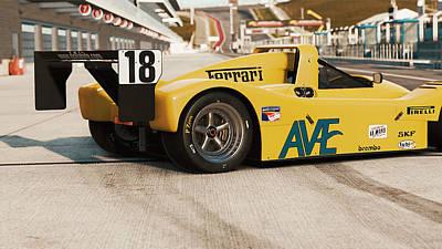 Photograph - Ferrari 333 Sp - 08 by Andrea Mazzocchetti