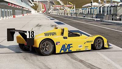 Photograph - Ferrari 333 Sp - 09 by Andrea Mazzocchetti