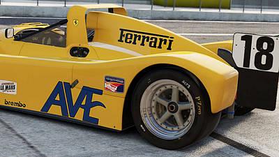 Photograph - Ferrari 333 Sp - 10 by Andrea Mazzocchetti