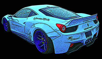 Photograph - Ferrari 458 Liberty Walk by Samuel Sheats