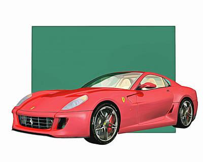 Digital Art - Ferrari 599 Gtb Fiorano 2006 by Jan Keteleer