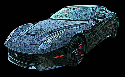 Photograph - Ferrari F12 In Black by Samuel Sheats