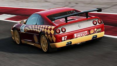 Photograph - Ferrari F355 Challenge - 54 by Andrea Mazzocchetti
