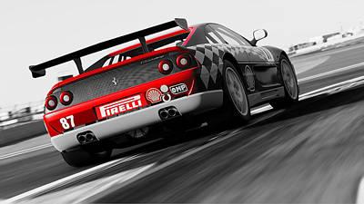 Photograph - Ferrari F355 Challenge - 55 by Andrea Mazzocchetti