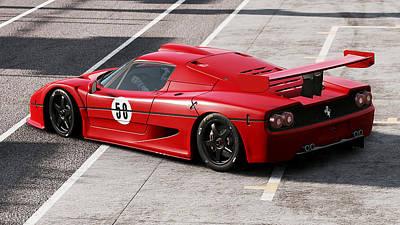 Photograph - Ferrari F50 - 01  by Andrea Mazzocchetti