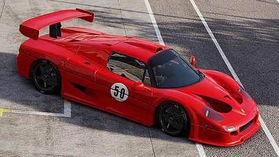 Photograph - Ferrari F50 - 03 by Andrea Mazzocchetti