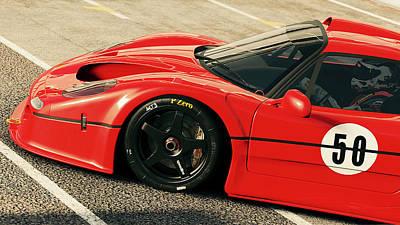 Photograph - Ferrari F50 - 07 by Andrea Mazzocchetti