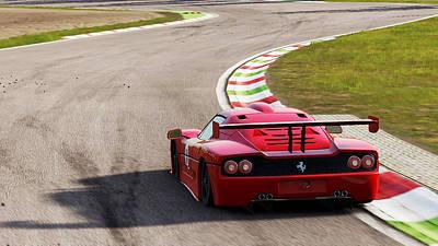 Photograph - Ferrari F50 - 11 by Andrea Mazzocchetti