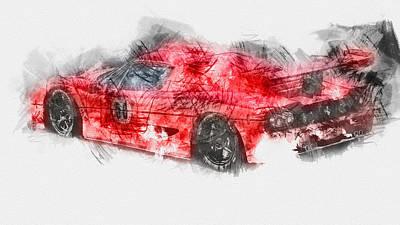 Painting - Ferrari F50 - 14  by Andrea Mazzocchetti