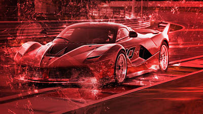 Digital Art - Ferrari Fxx K - 72 by Andrea Mazzocchetti