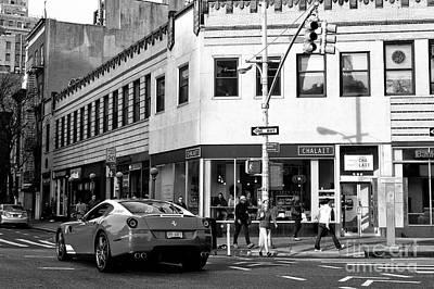 Photograph - Ferrari In Greenwich Village New York City by John Rizzuto