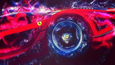 Painting - Ferrari Laferrari - 07 by Andrea Mazzocchetti