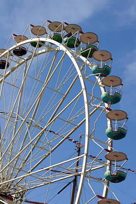 Photograph - Ferris Wheel Against Sky by Bjurling, Hans