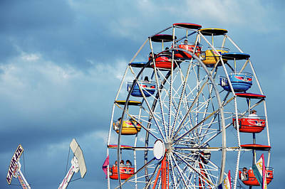 Photograph - Ferris Wheel And Rides by Todd Klassy