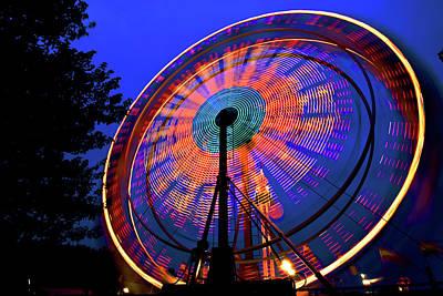 Photograph - Ferris Wheel At Night by Bill Jonscher
