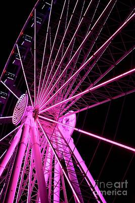 Travel - Ferris wheel at night  by JL Images