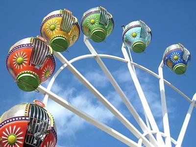 Photograph - Ferris Wheel by Aussiedingo - Lyndon M