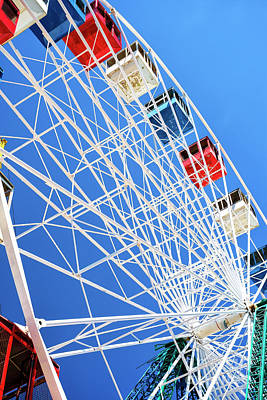 Photograph - Ferris Wheel Colors Seaside Heights by John Rizzuto