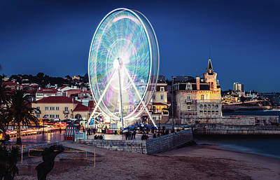 Photograph - Ferris Wheel In Cascais, Portugal by Alexandre Rotenberg