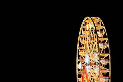 Photograph - Ferris Wheel On Black by Todd Klassy