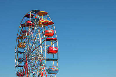 Photograph - Ferris Wheel On Blue by Todd Klassy
