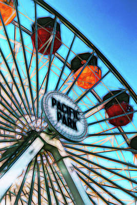 Royalty-Free and Rights-Managed Images - Ferris Wheel - Pacific Park, Santa Monica by Marlene Watson