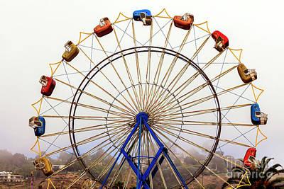 Photograph - Ferris Wheel Seats In Malibu by John Rizzuto