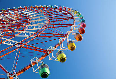 Ferris Wheel Art Print by St Yeo