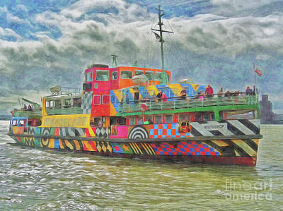 Photograph - Ferry Across The Mersey by Leigh Kemp