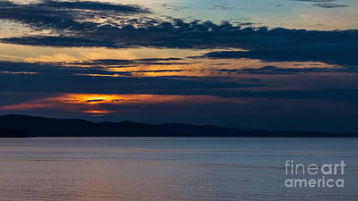 Photograph - Ferry Sunset by Alma Danison