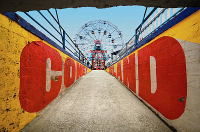 Photograph - Ferry Wheel At Amusement Park With by Ed Freeman
