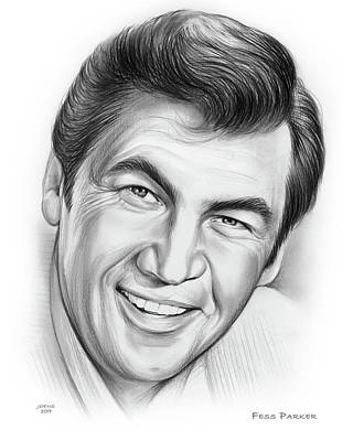 Drawings Rights Managed Images - Fess Parker 15OCT19 Royalty-Free Image by Greg Joens