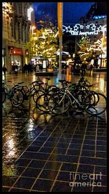 Photograph - Festive Bike Park by Joan-Violet Stretch