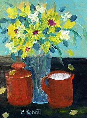 Painting - Festive Morning Table by Christina Schott