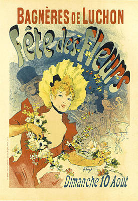 Painting - Fete Des Fleurs Vintage French Advertising by Vintage French Advertising