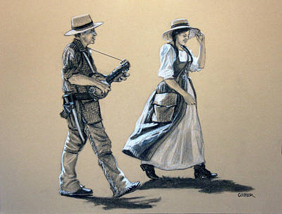 Drawing - Fiddler's Daughter by Todd Cooper