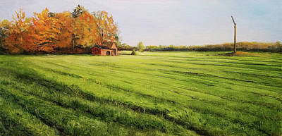 Painting - Field Aglow by Susan E Hanna