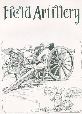 Photograph - Field Artillery By Jo Mora 1926 by California Views Archives Mr Pat Hathaway Archives