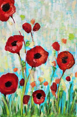 Wall Art - Painting - Field Of Poppies by Kaley Alie