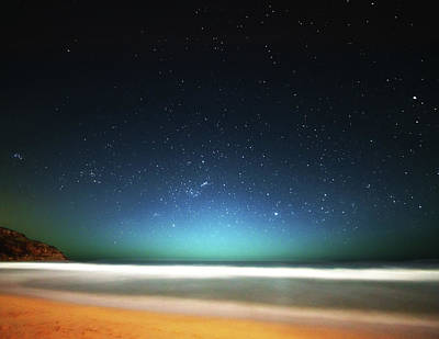 Photograph - Field Of Stars Over Beach At Night by Christopher Chan