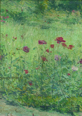 Painting - Field Poppies by Kuroda Seiki