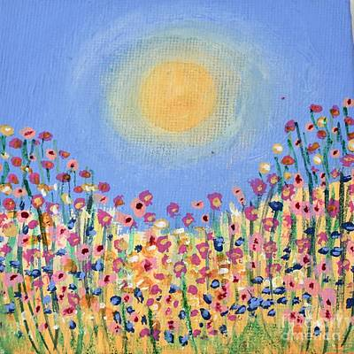 Painting - Fields Of Flowers by Kim Nelson