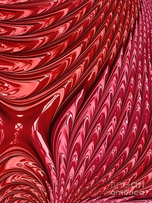 Digital Art - Fiery Red Flames Of Love Fractal Abstract by Rose Santuci-Sofranko