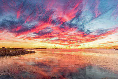 Photograph - Fiery Sky by Russell Pugh